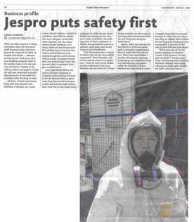 Jaspro Environmental Services - South Shore Breaker article 'Jaapro puts safety first' - Milton Church Asbestos Remediation July 2015