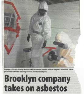 Jaspro Environmental Services - The Advance article 'Brroklyn Company Takes on Asbestos'- Milton Church Asbestos Remediation July 2015
